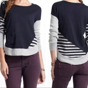 Anthropologie Moth Pullover Striped Sweater
